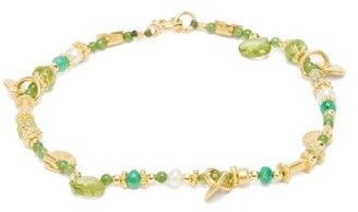 Katerina Makriyianni - Peridot, Jade & Pearl Gold-vermeil Bracelet - Green Multi