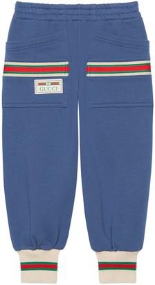 Gucci Children's cotton jogging pant with Web