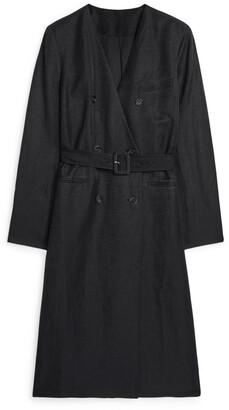Arket Long Linen Blazer