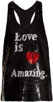 Ashish Love is Amazing sequin-embellished silk top