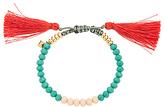Rebecca Minkoff Tropics Tassel Bracelet in Teal.