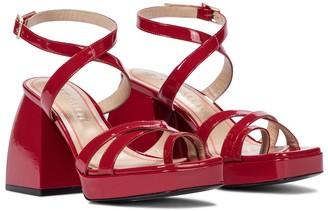 Nodaleto Bulla Siler patent leather sandals