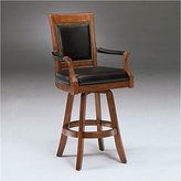 Hillsdale Kingston Game Swivel Leather Back 30 Inch Barstool
