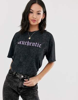 Asos Design DESIGN relaxed t-shirt with authentic motif in wash
