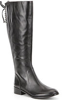 Antonio Melani Eastyns Leather Lace Up Detail Wide Calf Riding Boots