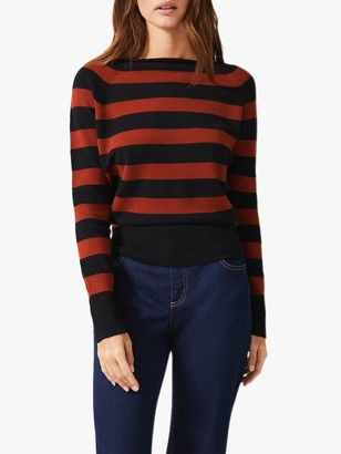 Phase Eight Svea Stripe Knit, Spice