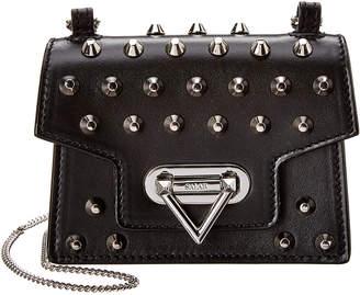 Salar Milano Bebe Studs Leather Shoulder Bag