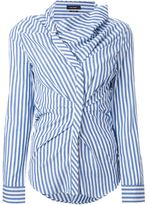Isabel Marant striped gathered shirt