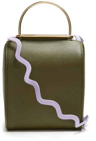 Roksanda Besa Top Handle Leather Shoulder Bag - Womens - Green Multi