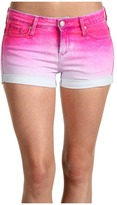 Juicy Couture Novelty Dip Dye 5 Pocket Short (Ultra Fuchsia) - Apparel