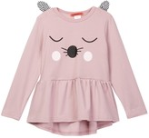 Funkyberry Animal Face Tunic (Toddler & Little Girls)