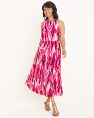 Black Label Pleated Halter Maxi Dress