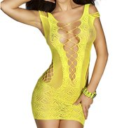 FasiCat Fishnet Teddy See Through Women Sleepwear Bodysuit