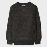 Paul Smith Men's Dark Grey Wool-Linen Blend Red Ear Sweater