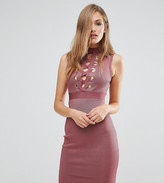 Wow Couture Bandage Lace Up Front Dress