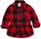 Arizona Long Sleeve Flannel Shirt-Baby Girls