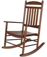 Beachcrest Home Palmyra Porch Rocker Chair Color: Oak