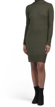 Turtleneck Sheath Recovery Yarn Dress