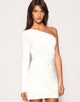 Stud Shoulder Grecian Dress