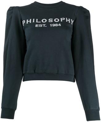 Philosophy di Lorenzo Serafini Logo-Print Cropped Sweatshirt