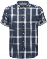 M&Co Indigo checked short sleeve shirt