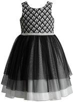 Sweet Heart Rose Sweetheart Rose Girls 2-6x Geometric Pattern Knit Dress