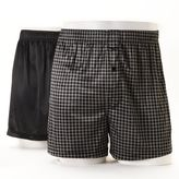 Croft & Barrow Big & Tall 2-pack Solid & Patterned Microfiber Knit Boxers