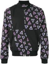 Kenzo triangle print bomber jacket