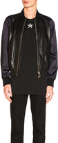 Givenchy Lamb Leather Bomber Jacket