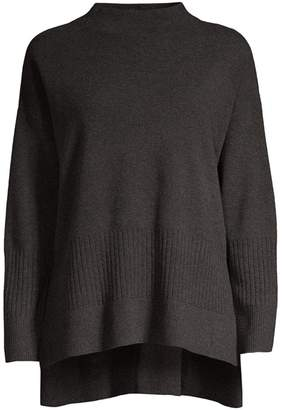 Donna Karan Long-Sleeve Wool-Blend Sweater