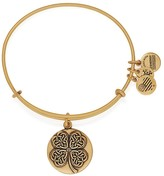 Alex and Ani Four Leaf Clover III Expandable Wire Bangle