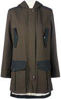 Giamba flap pockets hooded coat