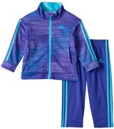 adidas Girls 4-6x Space-Dyed Tricot Track Jacket & Jogger Pants Set