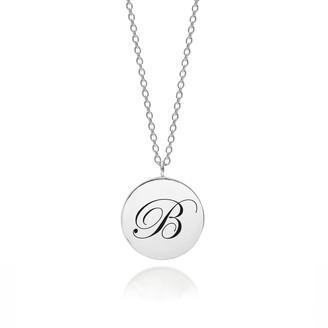 Myia Bonner Sterling Silver Initial B Edwardian Pendant