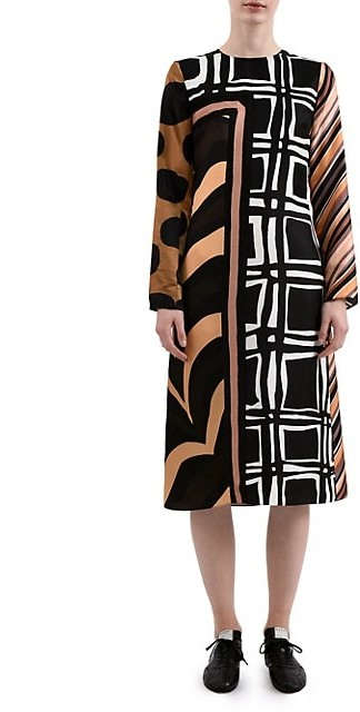 Marni Patchwork Foulard Shift Dress