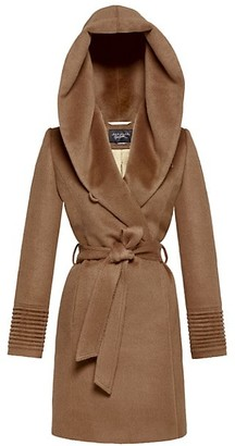 Sentaler Mid-Length Hooded Wrap Coat