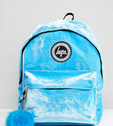 Hype Exclusive Blue Velvet Backpack
