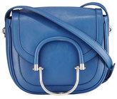 Derek Lam 10 Crosby Hudson Leather Crossbody Saddle Bag, Blue