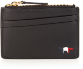 MAISON KITSUNÉ Leather cardholder