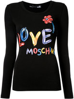 Love Moschino balloon logo T-shirt - women - Cotton/Spandex/Elastane - 42