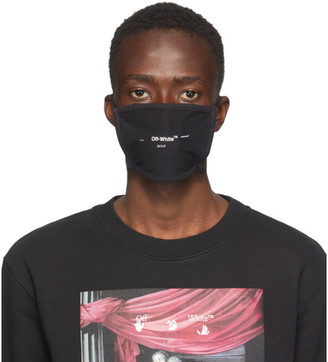 Off-White Black Logo Mask