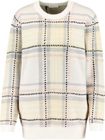Chloé Checked jacquard-knit wool and cashmere-blend sweater