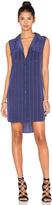 Equipment Sleeveless Slim Signature Stripe Dress