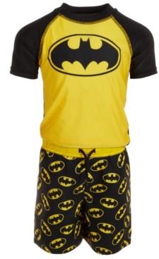 Dream Wave Dreamwave Toddler Boys 2-Pc. Batman Rash Guard & Swim Trunks Set