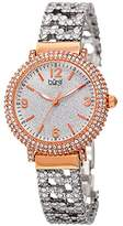 Burgi Women's BUR140RG Swarovski Crystal Filled Rose Gold and Silver Bracelet Watch