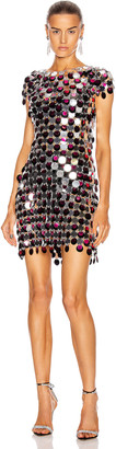 Paco Rabanne Pastille Dress in Silver, Black & Pink | FWRD