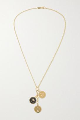 Foundrae 18-karat Gold, Diamond And Enamel Necklace - one size