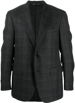 Canali Checked Single-Breasted Blazer