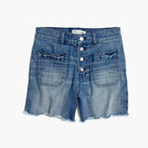 Madewell High-Rise Denim Shorts: Button-Front Edition