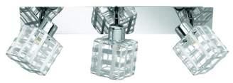 Reality Leuchten R81353106 Spotlight/Ceiling Light 3x G9 28 W Eco Bulbs Included 40 x 7 cm/Shades Aluminium Wire/Chrome Base